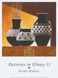 Patterns in Ebony II Prints by Keith Mallett