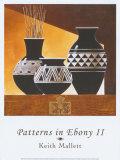 Patterns in Ebony II Prints by Keith Mallett