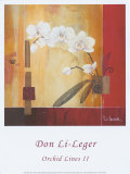 Orchid Lines II Prints by Don Li-Leger