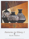 Patterns in Ebony I Posters by Keith Mallett