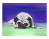 Pug Dog Giclee Print by Laura Barbosa