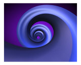 Blue Spring Swirl Photographic Print by Dan Collier