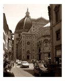 Bustling Firenze - Sepia Fotografie-Druck von Steven Myers