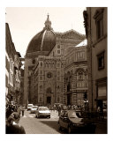 Bustling Firenze - Sepia Photographic Print by Steven Myers