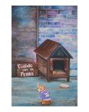 Cuidado Con El Perro Giclee Print by Laura Barbosa