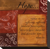 Words to Live By, Hope Mounted Print by Debbie DeWitt