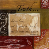 Words to Live By: Truth Mounted Print by Debbie DeWitt