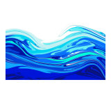 Blue Wave Photographic Print by Rod Goodwin