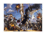 Confederate C.S.S. Alabama in Battle Against Union U.S.S. Kearsarge Giclee Print by Gregory Manchess