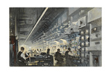 A Radio-Telephone Control Room Giclee Print by Thornton Oakley