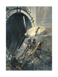Wind Tunnels Hurl Superhurricanes for Testing Airplanes Giclee Print by Thornton Oakley