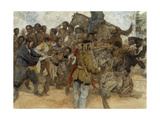 Owusu Mensa, a Denkyira Warrior, Fights Being Sold into Slavery Giclee Print by Jerry Pinkney