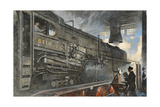 Machine Used for Testing the Speed and Pull of Giant Locomotives Giclee Print by Thornton Oakley