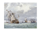 Oil Painting of the Sinking of the H.M.S. Mary Rose Giclée-tryk af Richard Schlecht