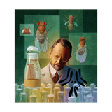 Thomas Hunt Morgan, Geneticist, Studied the Fruit Fly Giclee Print by Ned M. Seidler
