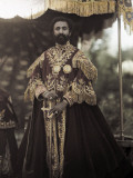 Emperor Poses in Traditional, Ceremonial, Coronation Clothing Photographic Print by W. Robert Moore