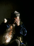 A Young Kazakh Man Gives Thanks to Allah before Slaughtering a Sheep Photographic Print by David Edwards
