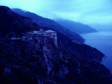 A 14th Century Monastery Towers Above the Aegean Sea Photographic Print by James L. Stanfield