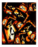 Abstract Poker Collage Giclee Print by Teo Alfonso