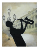 Blues Silhouette 2 Giclee Print by Todd Horne