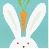 Peek-a-Boo I, Rabbit Stretched Canvas Print by Yuko Lau