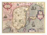 China, circa 1607 Giclee Print by Jodocus Hondius