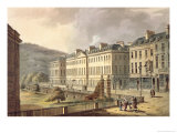 "North Parade, from ""Bath Illustrated by a Series of Views"" Giclee Print by John Claude Nattes"