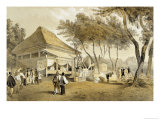 Fire Company's House and Engine, Yokuhama,1856 Giclee Print by Wilhelm Heine