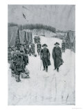"Washington and Steuben at Valley Forge, Illustration from ""General Washington"" by Woodrow Wilson Premium Giclee Print by Howard Pyle"
