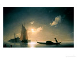 Gondolier at Sea by Night, 1843 Giclee Print by Ivan Konstantinovich Aivazovsky