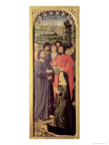 The Resurrection of Lazarus Triptych Lámina giclée por Nicolas Froment