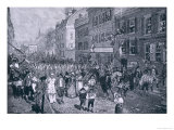 Carnival at Philadelphia, Illustration from The Battle of Monmouth Court House by Benson J. Lossing Giclee Print by Howard Pyle