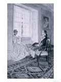 "Washington and Mary Philipse, Illustration from ""Colonel Washington"" by Woodrow Wilson Giclee Print by Howard Pyle"