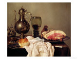 Breakfast Still Life Giclee Print by Willem Claesz. Heda