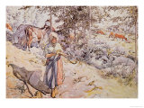 Young Girl Weaving, 1905 Giclee Print by Carl Larsson
