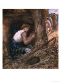 Saul Hiding Among the Stuff, 1866 Giclee Print by James Smetham