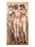 The Three Graces, circa 1885 Giclee Print by Edward Burne-Jones