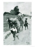 "Tory Refugees on Their Way to Canada, Illustration from ""Colonies and Nation"" by Woodrow Wilson Premium Giclee Print by Howard Pyle"