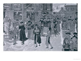 Christmas Morning in Old New York Before the Revolution, Illustration from Harper's Weekly Giclee Print by Howard Pyle