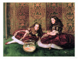 Leisure Hours Premium Giclee Print by John Everett Millais