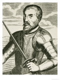 "Portrait of Hernando de Soto from ""The Narrative and Critical History of America"", Giclee Print"