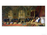The Reception of Siamese Ambassadors by Emperor Napoleon III at the Palace of Fontainebleau Giclee Print by Jean Leon Gerome