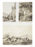 A Portuguese Church and a Chinese Street at Macao Giclee Print by Auguste Borget