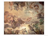 The Triumph of Peace Over War, Detail of the Heavens, from the Ceiling of the Main Hall Giclee Print by Anton Agelo Bonifazi