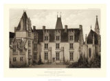 Sepia Chateaux I Giclee Print by Victor Petit