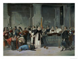The Funeral of the Inca Atahualpa in the Town of Cajamarca Attended by Francisco Pizarro Giclee Print