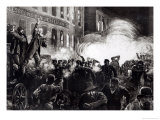 "The Anarchist Riot in Chicago: a Dynamite Bomb Exploding Among the Police, from ""Harper's Weekly"" Giclee Print by Thure De Thulstrup"