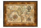 Antique World Map Print