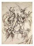 The Temptation of St. Anthony Giclee Print by Martin Schongauer