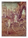"""St. George and the Dragon, Scene from the Predella Panel of the """"Madonna Della Rondine"""" Altarpiece Giclee Print by Carlo Crivelli"""